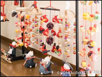 展示されていた「つるし雛と人形達」