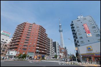 東京スカイツリー近くの街並み