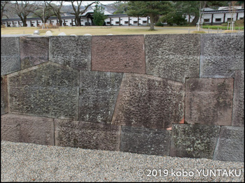 金沢城 石垣:切石石積み