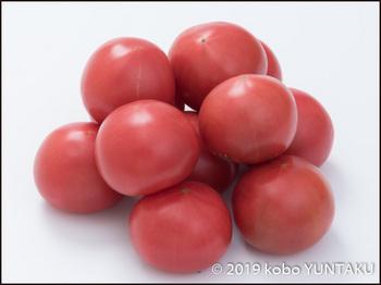 鹿沼産の赤く熟したトマト