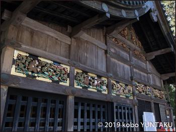 神厩舎に飾られた八枚の猿の彫刻