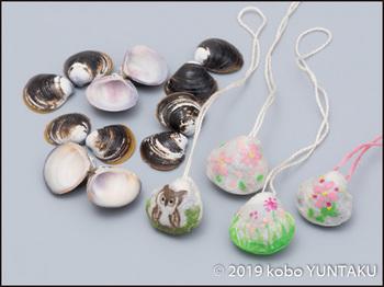 宍道湖産ヤマトシジミの殻で作ったアクセサリー