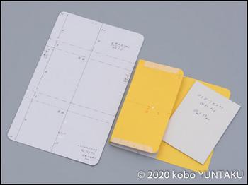 革のパスポート入れ 型紙とサンプル