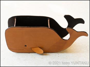 マッコウクジラの小物入れ(仕上げ))