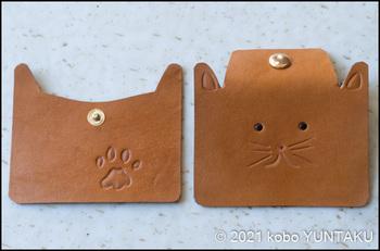 子猫のコインケース(スナップ付け)