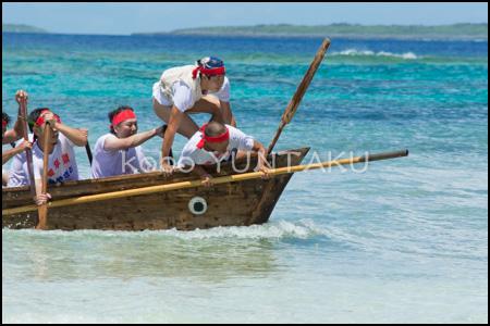 黒島の豊年祭「ウーニー・パーレー競漕」