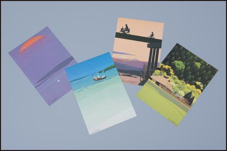 はり絵画家・内田正泰さんのポストカード