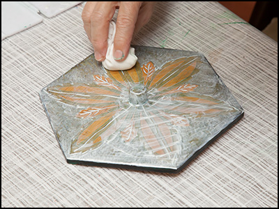 正六角形の器の修理2